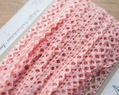 Pretty Pink Lace - 3 yards Vintage Fabric Trim New Old Stock Crochet  Doll Making