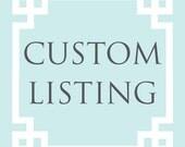 Custom Listing for Nida Syed