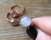 Moonstone copper Electroformed ring