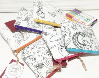 WEEKEND SALE - PARTY Favors you can color with washable markers - 6 different prints you choose