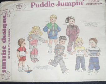 Sunrise Designs Puddle Jumpin' Strictly for Kids Stuff Pattern New Factory Folded