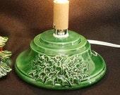 Green (Small) Ceramic Christmas Tree Base w/ Music Box
