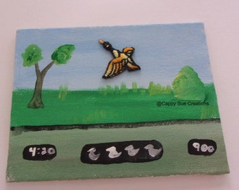 Duck Hunt inspired mini painting assemblage