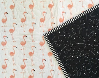 Pretty in Pink Flamingo quilt