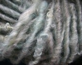 Handspun Hand Dyed Soft Curly Border Leicester Textured Bulky Art Yarn in Icy Blue by KnoxFarmFiber for Knit Crochet Weave Felt