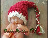 Rudolph The Red Nose with bow Handmade crochet newborn hat Christmas crochet hat Rudolph crochet hat