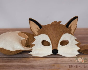 Xander Fox Mask and Tail Costume for Pretend Play