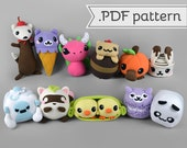 Punny Food Animal Plush - Collection of 12 .pdf Sewing Patterns