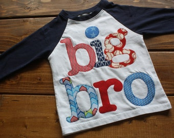 Big Bro Tee, Sibling Shirts, Sibling Photo Shoot, New Baby, Baby Announcement, Baseball Theme, Big Brother Shirt, Big Sister, Made To Order