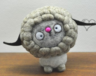 Needle Felted Cashmere and Merino Wool Spring Lamb Toy  Ready to Ship