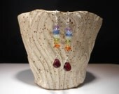 Chakra stone earrings with sterling silver earwires * crystal healing jewelry