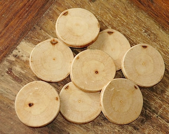 Maple wood buttons/slices - 8 pc. set