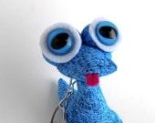 Cute Keychain, Easter Basket Stuffer Toys for Boys, Alien Keychain, Monster Keychain by Adopt an Alien named Kirmy