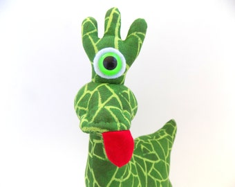 One Eyed Alien, One Eyed Monster, Cyclops, Alien Toy, Alien Plush, Cute Alien by Adopt an Alien named Mortie