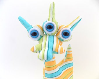 Adopt an Alien Toy, Adopt an Alien Plush, Adoptanalien, Cute Alien Toy, Alien Plush Toy for Boys named Whistler