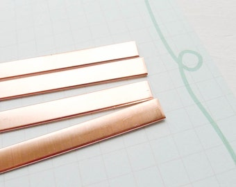 "Copper Cuff Blanks for Metal Stamping and Jewelry Making 18 gauge  1/4"" x 6"" Bracelet Blank (BHCB5266)"