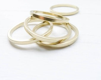 Dainty Brass Rings Size 6 for Stacking or Soldering Thin 1.6mm  for Jewelry Making Ring Blank (RHBU406)
