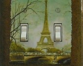 5 CHOICES Paris switchplates w/ MATCHING Screws- Paris living room Paris dining room Paris ballet French poster Paris switchplate cover (C)