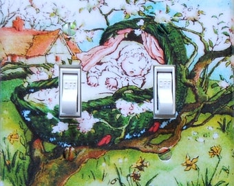 Baby & Nursery Switchplates w/ MATCHING SCREWS- Nursery decor toddlers room juvenile art nursery outlet covers animal characters nursery art
