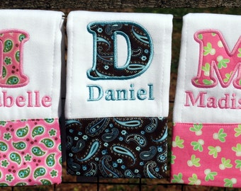 Boutique Custom Monogrammed Personalized Burp Cloth