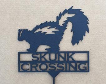 Skunk Crossing Garden Stake (N27)