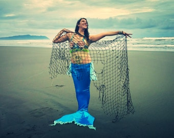 Ariel swimming mermaid costume with monofin for photo shoot, mermaid parties, Ariel costume