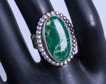 Navajo Turquoise Ring - 50s High Grade Cerrillos Turquoise - Harvey Era - sz 5 1/2