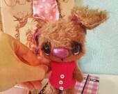 Artist bear bunny available imediately by Sylvie Touzard