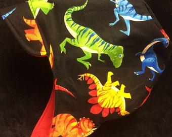 Reversible Dinosaur winter hat sizes newborn to adult size