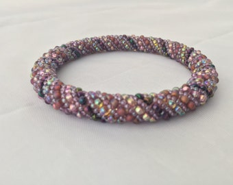 Purple Candy Stripe Bangle