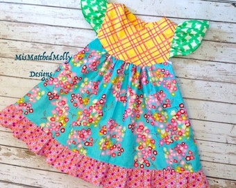 Funday Flutter Dress Custom sz 6m up to sz 8