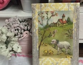 """Vintage Easter Scene Canvas Picture- 2 1/2"""" x 3 1/2"""""""