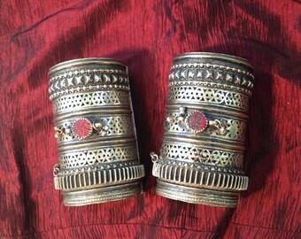 Tribal Kuchi Cuff Bracelets - Matched Pair