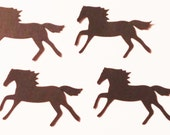 30 Horse Paper Die Cuts, Cupcake Toppers, Party Confetti, Scrapbook, Card Embellishments, Black