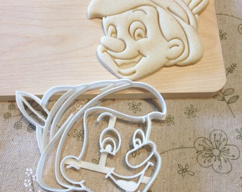 Pinocchio Cookie Cutter - Fondant Icing Cake Cupcake Topper Iced Sugar Cookies Biscuit Mould Mold Fantasy Children Kids Theme Birthday Party