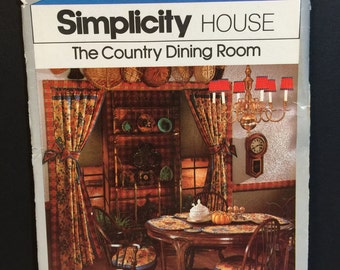 Vintage Simplicity House #106 The Country Dining Room Tutorial