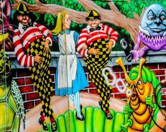 Alice in Wonderland Carnival Artwork Fine Art Print- Carnival Art, County Fair, Nursery Decor, Home Decor, Children, Baby, Kids