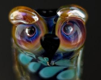 Lola.......... lampwork owl bead...... sra