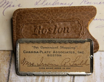 Charga-Plate Associates- Boston Department Store Credit Card- VINTAGE CHARGE CARD- Shopping