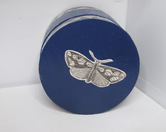 Trinket Box - Royal Blue Butterfly