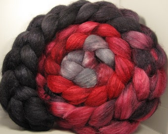 Polwarth/Tussah Silk 60/40 Combed Top Roving - 5oz - Scarlet Witch 2