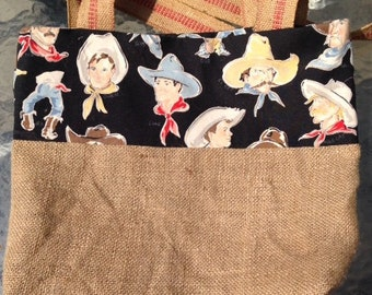 "SALE! Market Tote ""Howdy"" cowboys"