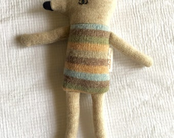 softie | baby toy | recyced woollen toy| sustainable toy|