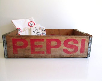 Pepsi Cola Wood Crate Wood Pepsi Vintage Industrial Storage Fresno California Pepsi Bottle Wood Box