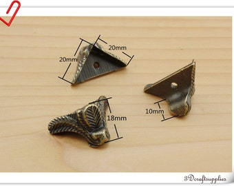 Antique Bronze Vintage Jewelry Box Feet  box feet Box hardware ( screws include)  18mm 12pcs AT20