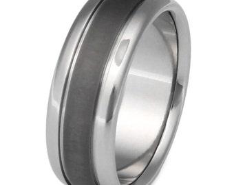 Titanium Wedding Band - Mans Ring - sa2