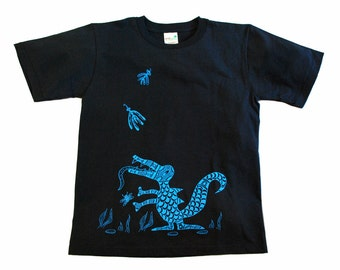 Black Dragon Youth S Anvil Organic Tee: Coming to Get You, Loose Fit