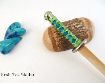 Hairtana stick, Sword Katana  Hairstick, Hair Sticks, Grahtoe Studio, Holly Wood Hair Stick, Peacock blue green hairsticks,woman gift