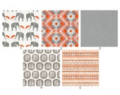 Design Your Own Summer Safari Crib Set, Indie Fabric Printed Just for You