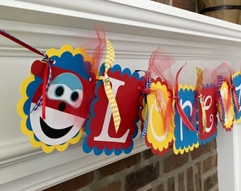 Whimzical Name Banner- Super Wings